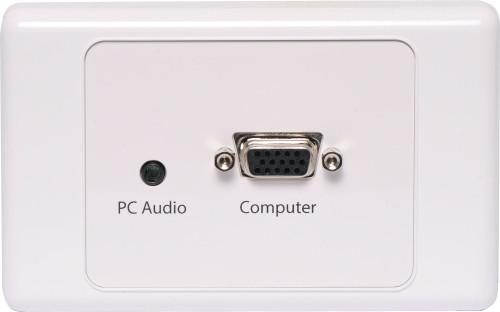 VGA with 3.5mm Audio Wallplate