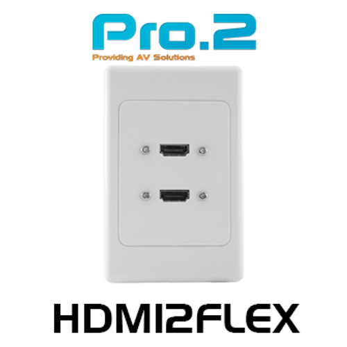 Pro.2 HDMI Wall Plate With Flexible 'Thin Wall' Dongle x2