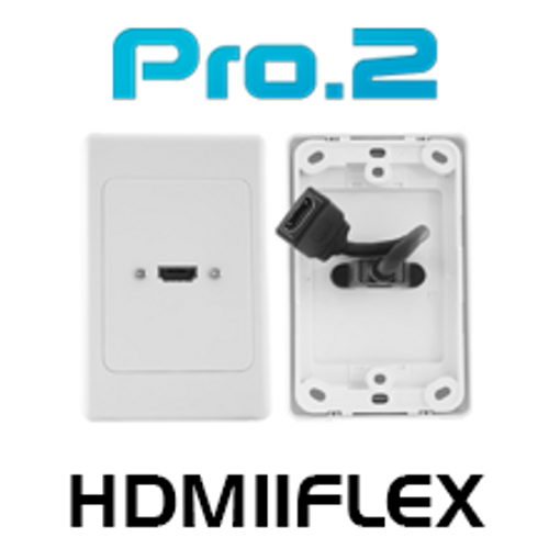 Pro.2 HDMI Wall Plate With Flexible 'Thin Wall' Dongle x1