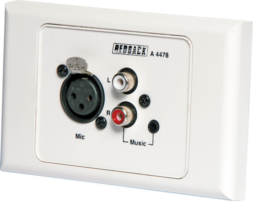 Redback Local Input Wallplate (Suits A4470/80)