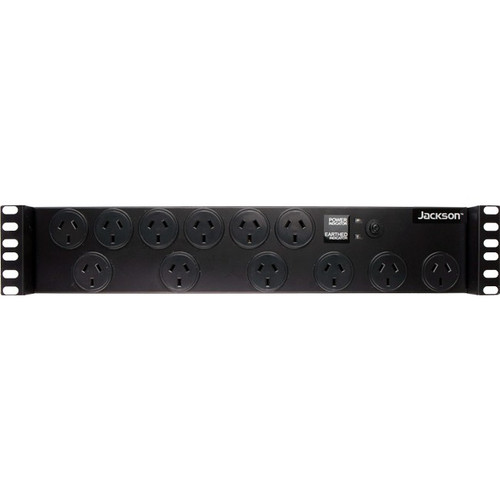 Jackson 12 Way 2RU Rack Mounted Powerboard