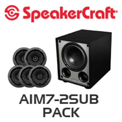 "SpeakerCraft AIM7 Two 7"" In-Ceiling 5 Speaker Package with V8 Subwoofer"
