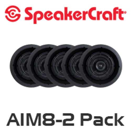 """SpeakerCraft AIM8 Two 8"""" In-Ceiling 5 Speaker Package"""