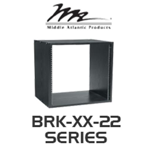 """Middle Atlantic BRK Series 22"""" Deep Black Wood Grain Laminate Rack with 8RU / 12RU / 16RU"""