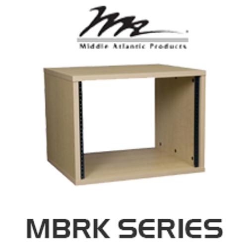 "Middle Atlantic MBRK Series 22"" Deep Maple Melamine Finish Rack with 8RU / 12RU / 16RU / 20RU"