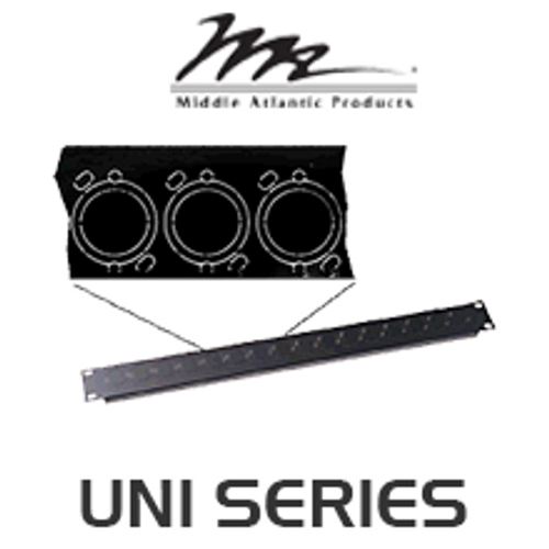 Middle Atlantic Uni Series 1 / 2 Space Universal Connector Panel