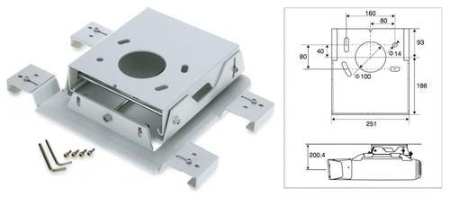 Epson ELPMB25 Ceiling Mount for Z Series Projectors (Flush)