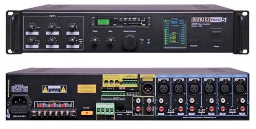 Redback A4275 PA Mixer Amplifier 125W 6 Input