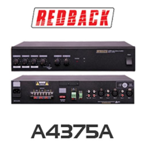 Redback A4375A Phase 4 PA Amplifier 125W 4 Input
