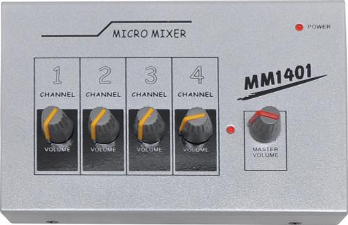 Micro Mixer MM1401 4 Input Microphone Mixer