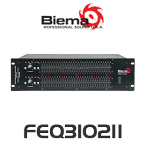 Biema 2 Channel 31 Band EQ With Feedback Detection