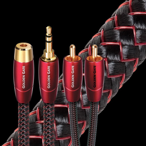 AudioQuest Golden Gate 3.5mm (M-F)/ RCA  Interconnect Cable