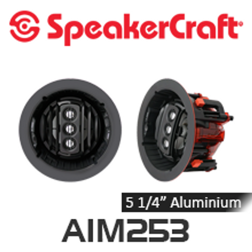 "SpeakerCraft AIM5 Three Series 2 5.25"" Aluminium Woofer Pivoting In-Ceiling Speakers (Pair)"