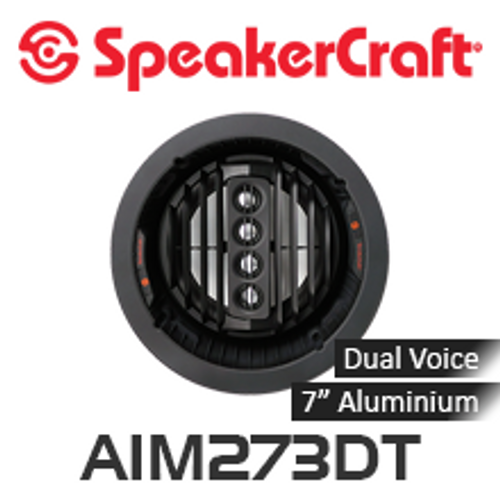 "SpeakerCraft AIM7 DT Three Series 2 7"" Dual Voice Aluminium Woofer Pivoting In-Ceiling Speakers (Each)"