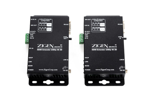 Zigen ZIG-HVX-70 HDBaseT HDMI Extender over Cat 5/6/7 (70 Meters)