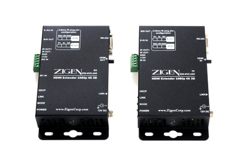 Zigen ZIG-HVX-100 HDBaseT HDMI Extender over Cat 5/6/7 (100 Meters)