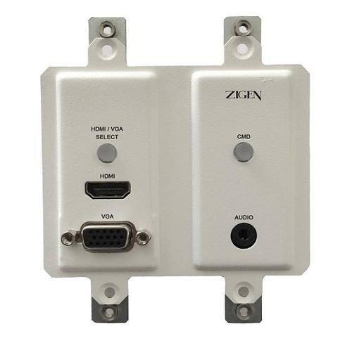 Zigen ZIG-POEWP-100 HDMI & VGA Auto Switching Wallplate (HDBaseT Transmitter)