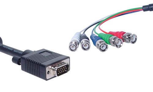 DE15 Male High Density To 5 BNC Coax Monitor Lead - 2m
