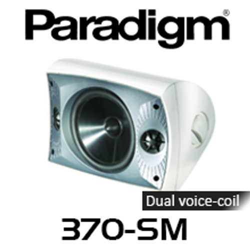 "Paradigm 370-SM 6.5"" All Weather UV-resistant PolyGlass Sealed Stereo Outdoor Speaker (Each)"