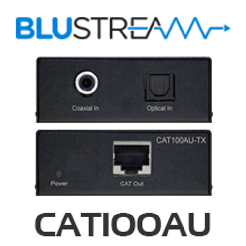 BluStream CAT100AU Digital Audio over CAT5/6 Extender Kit (100m)