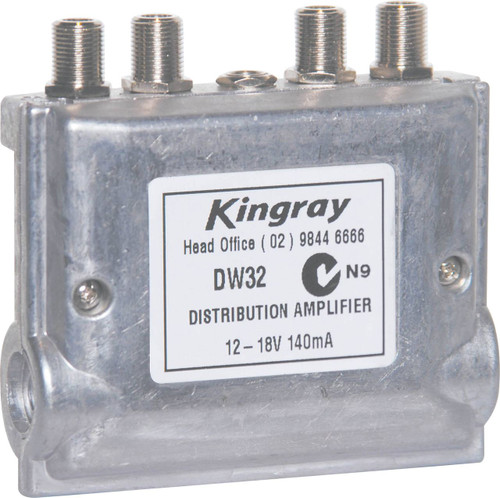 Kingray DW32 F Type MATV Distribution Amplifier