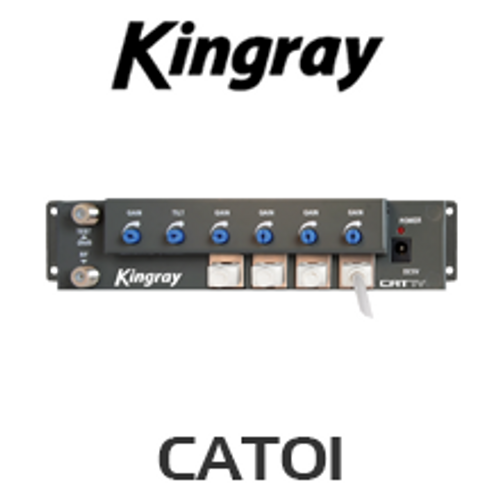 Kingray CAT01 4 Way CATTV over CAT5 RF Amplifier