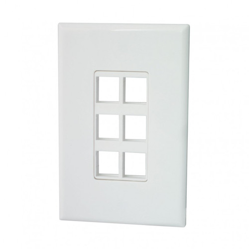 Origin WP6 Hidden Screw Design 6 Port Blank Keystone Wallplate