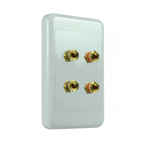 Origin NSP2044 4-Way 4mm Pins Speaker Wallplate