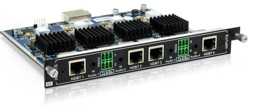 AVGear MC-4I-BT 4 HDBaseT Input Card Supports 4K with Embedded Audio