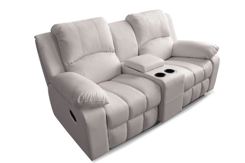 Manhattan Comfort Leather / Suede Finish Cinema Seating