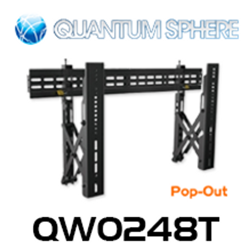 """Quantum Sphere QW0248T 40""""-70"""" Commercial Video Pop-Out Flat Display Wall Mount (Landscape)"""