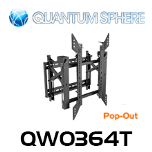 "Quantum Sphere QW0364T 40""-70"" Commercial Video Pop-Out Flat Display Wall Mount (Portrait)"