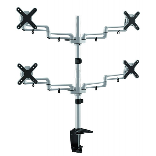 "Quantum Sphere LDCT12N 13""-27"" Full Motion Quadruple LCD Display Desk Mount"