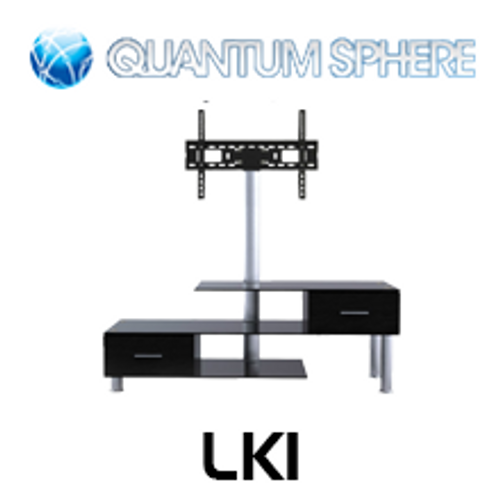 "Quantum Sphere LK1 3 Shelfs Entertainment Unit Integrated with 32""-55"" LCD TV Mount"