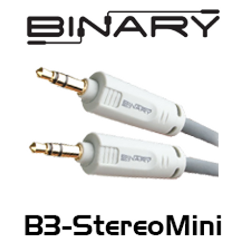 Binary Cables B3-Series 3.5mm (1/8 in.) Mini Stereo to 3.5mm Mini Stereo Cable