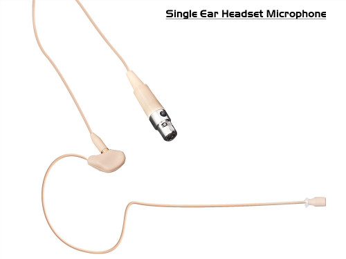 Sense Single / Double Ear Headset Microphone (4P mini-XLR)