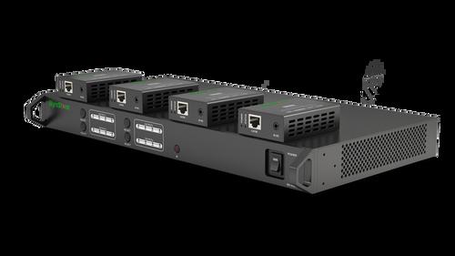 WyreStorm 4x4 HDMI Matrix Switcher with (4) 40m Receivers, Source Control & Remote