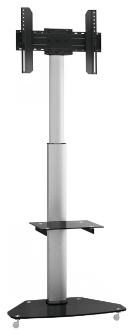 "Quantum Sphere FS01G Contemporary Height Adjustable Digital Signage TV Trolley - Suits 37""-70"""