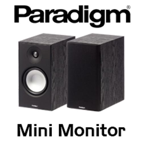 """Paradigm Mini Monitor v7 6.5"""" 2-Way Bass Reflex Bookshelf Speakers (Pair)"""
