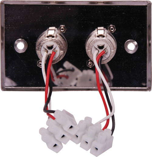 3 pin XLR x 2 Horizontal Steel Microphone Plate