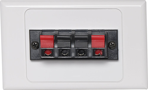 Dynalink Dual Speaker Terminal Wallplate - Solder Termination