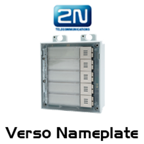 2N Helios IP Verso Door Intercom 5 Nameplates Module