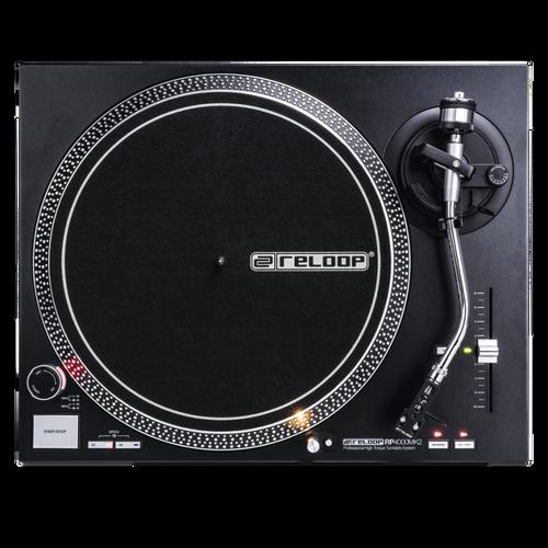 Reloop RP-4000 MK2 High Torque DJ Turntable incl. OM Black Cartridge & Stylus