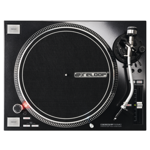 Reloop RP-7000 MK2 Quartz Driven DJ Turntable with Adjustable Upper-Torque Direct Drive