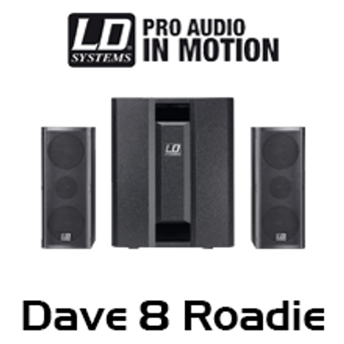 LD Systems DAVE8 ROADIE 700W 2.1 Compact Active PA System w/ 3-Ch Mixer