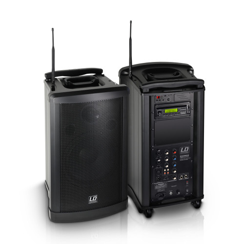 "LD Systems RM102B6 RoadMan 10"" Battery Powered Portable PA Speaker"