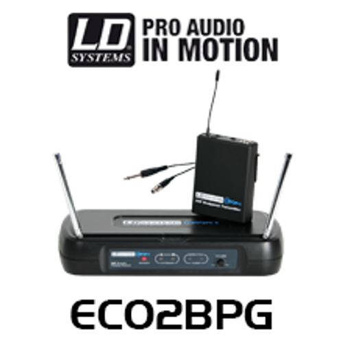 LD Systems ECO2BPG Wireless Beltpack Microphone System With Guitar Cable