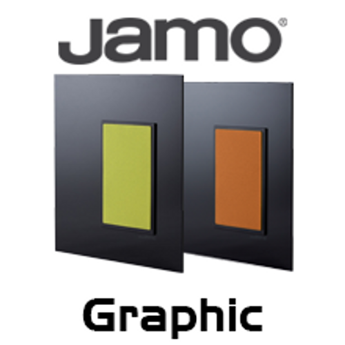 Jamo Graphic Wall-Mounted Glass Satellite Speakers (Pair)
