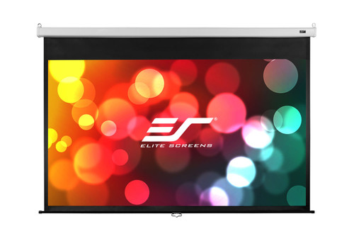 "Elite Screens SRM PRO MaxWhite Fiberglass Manual Pull Down Projections Screen (84 -120"")"