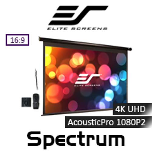 "Elite Screens Spectrum AcousticPro 1080P2/UHD Motorised Projection Screens (100"" & 125"")"